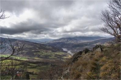 La Val Ceno vista dalla cima del groppo di rocca
