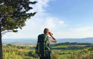 La via Francigena, fra San Miniato e Gambassi Terme