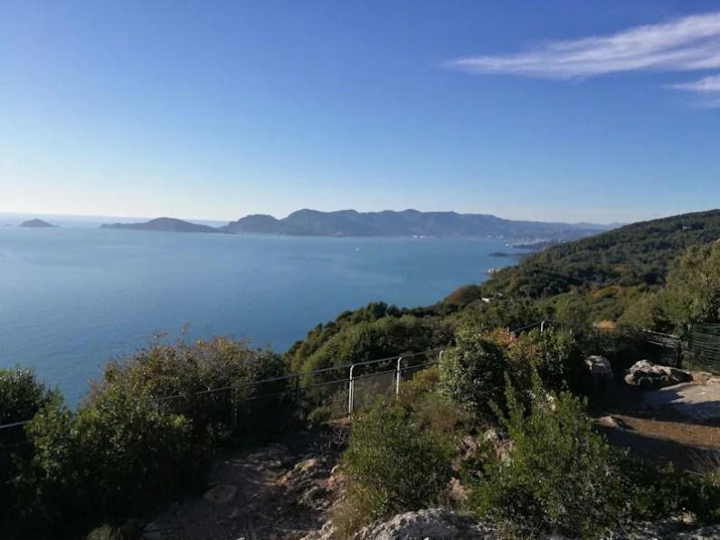 Il golfo di La Spezia e Portovenere da Monte Marcello