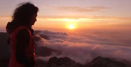 Tramonto dalla vetta del monte Penna