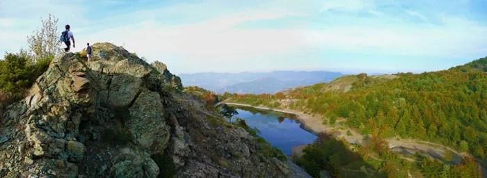 Il crinale sopra a Lago Bino