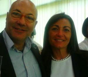 michele faiella con lina lucci segretario generale della Cisl Campana