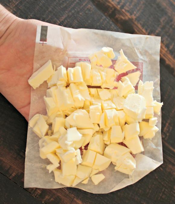 Cut up butter