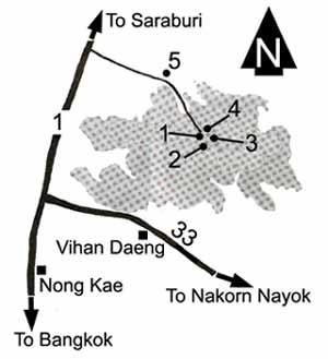 Phra Buddha Chai national park map, Saraburi province