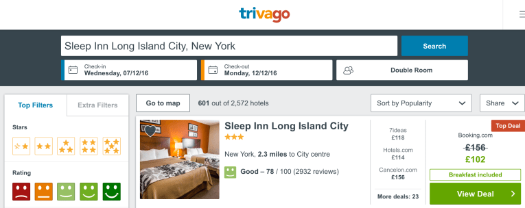 cheap holiday to New York city