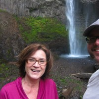 Kathy & Rich at Latourell Falls