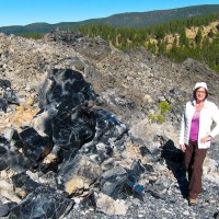 Kathy with obsidian