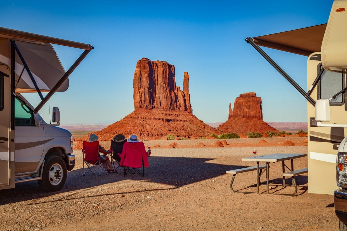 Drama free campground in Monument Valley