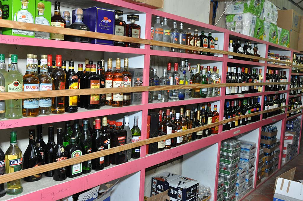 Liquor and rum selection
