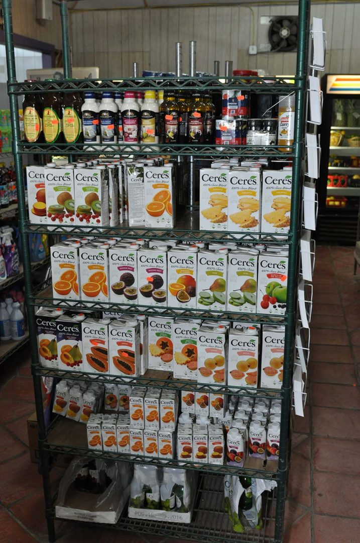Ceres juice selection