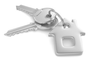 3D image of keys with house key ring
