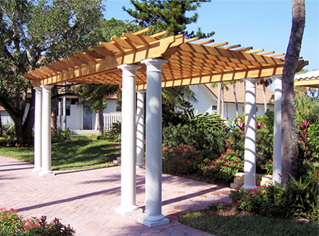 Columned Pergola No CP4  by Trellis Structures