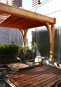 Large Rooftop Pergola No Rp7 By Trellis Structures