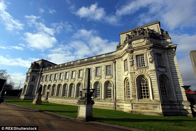 Matthew Scully-Hicks, formerly of Llandaff, Cardiff, and now of Delabole, Cornwall, denies murder. The trial at Cardiff Crown Court (pictured), which is expected to last two weeks, continues