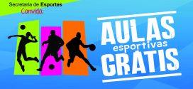 Prefeitura abre inscrições para aulas gratuitas em diversas modalidades esportivas