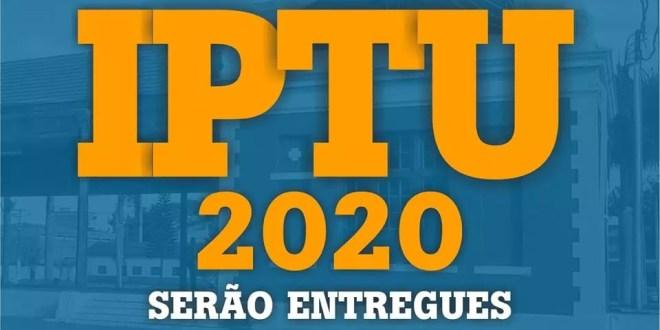Carnês de IPTU 2020 serão entregues em casa