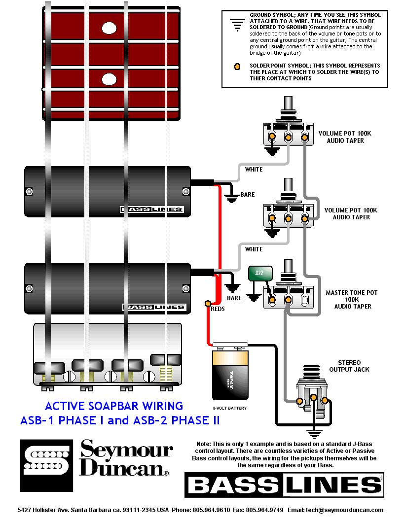 Attractive Seymour Duncan Active Wiring Diagram Gallery - Electrical ...
