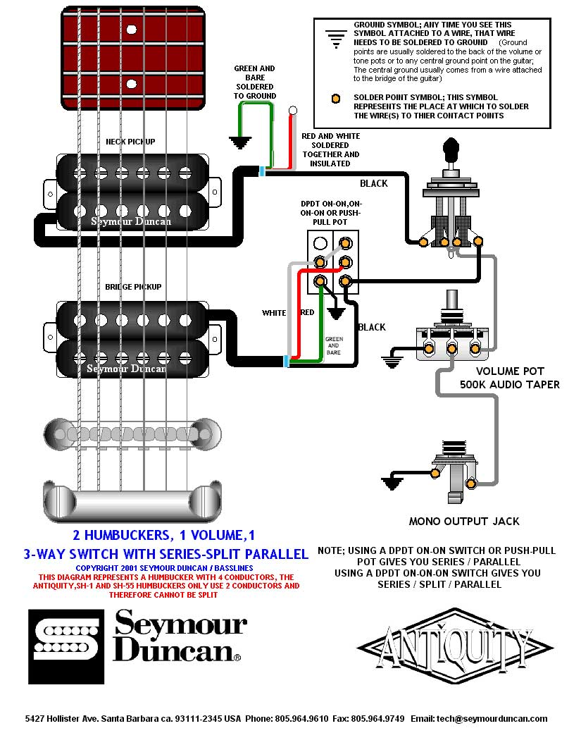 medium resolution of humbucker wiring diagrams 2 vol 1 tone tele wiring pick up wiring diagram for a ibanez rg 160b pickup wiring diagram 2 numbers 1 vol 1 tone