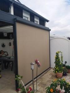 Terassendach mit Sonnen-/Sichtschutz