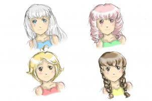 Как Рисоват Волоси аниме Dlya Devochek0872