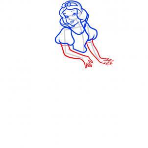 10-қадам. Ханшайым Пониді жеңді. Мұны істеу үшін бізге көк және күлгін қарындаштар қажет - шаш, құйрық және қанаттар үшін бізге керек. Алтын - әшекейлер үшін. Кейбір селестер денелерін көгілдір алмастыруға болады.