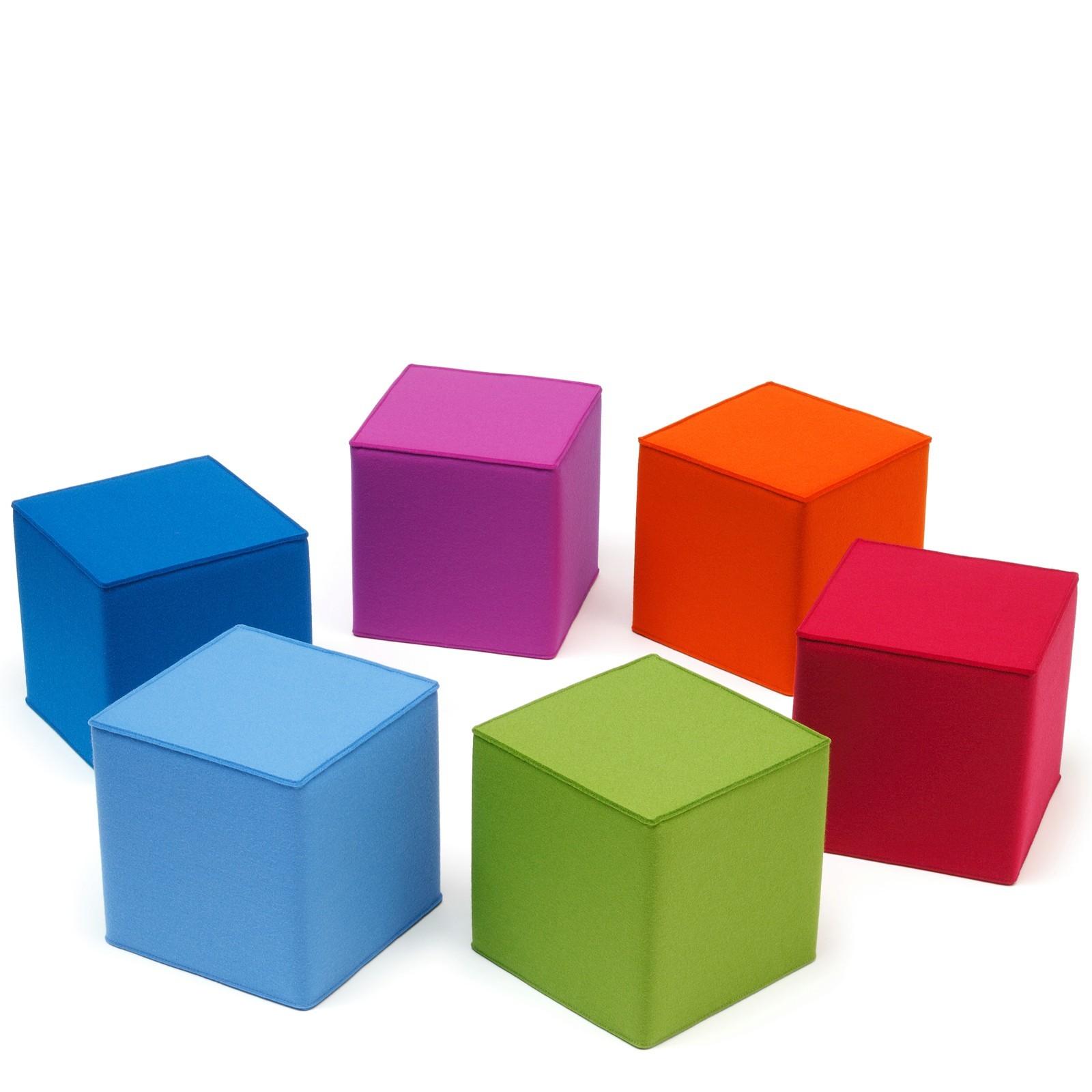Kinder Sitzmbel quadratisch Filz viele Farben Hey Sign