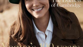 British-Vogue-Cover—The-Duchess–of-Cambridge-wearing—-Burberry