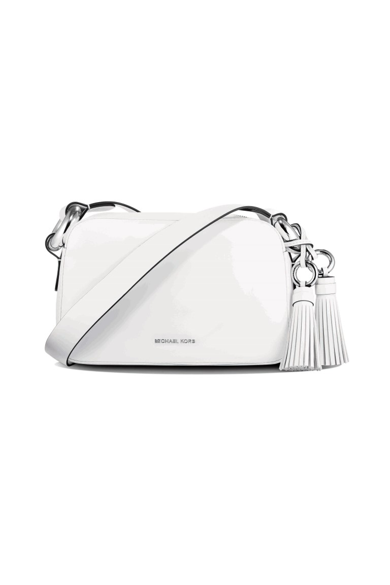 Michael kors tote bags philippines - Michael Michael Kors Grand Medium Leather Shoulder Bag In White