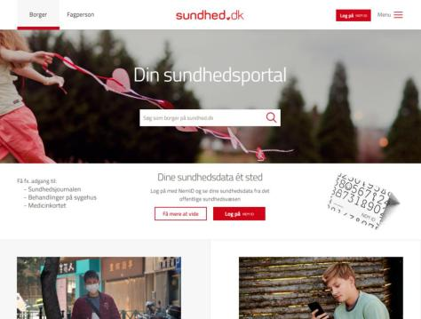 sundhet.dk - die offizielle Gesundheitsplattform wird durch apoteket.dk ergänzt. Die NemID dient als universelle ID der Dänen zur Nutzung aller offiziellen digitalen Angebote.