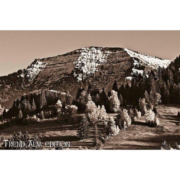 Fotografie des Berges Hochgrat 60x40 cm in sepia