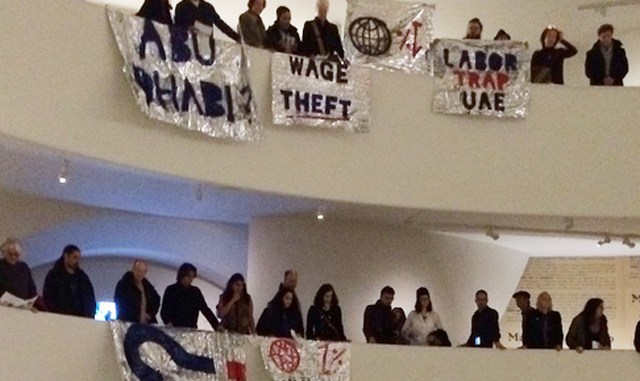 Protest in Guggenheim