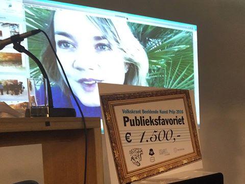 Anouk Kruithof winnaar Volkskrant Beeldende Kunst publieksprijs