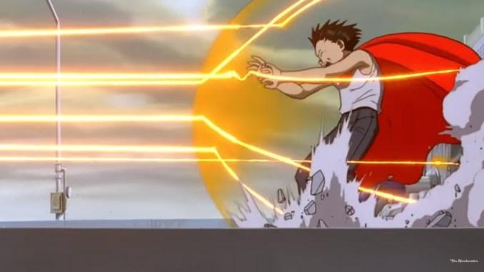Licht, met de hand getekend in Akira