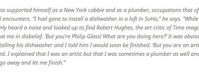 De bijbanen van Philip Glass
