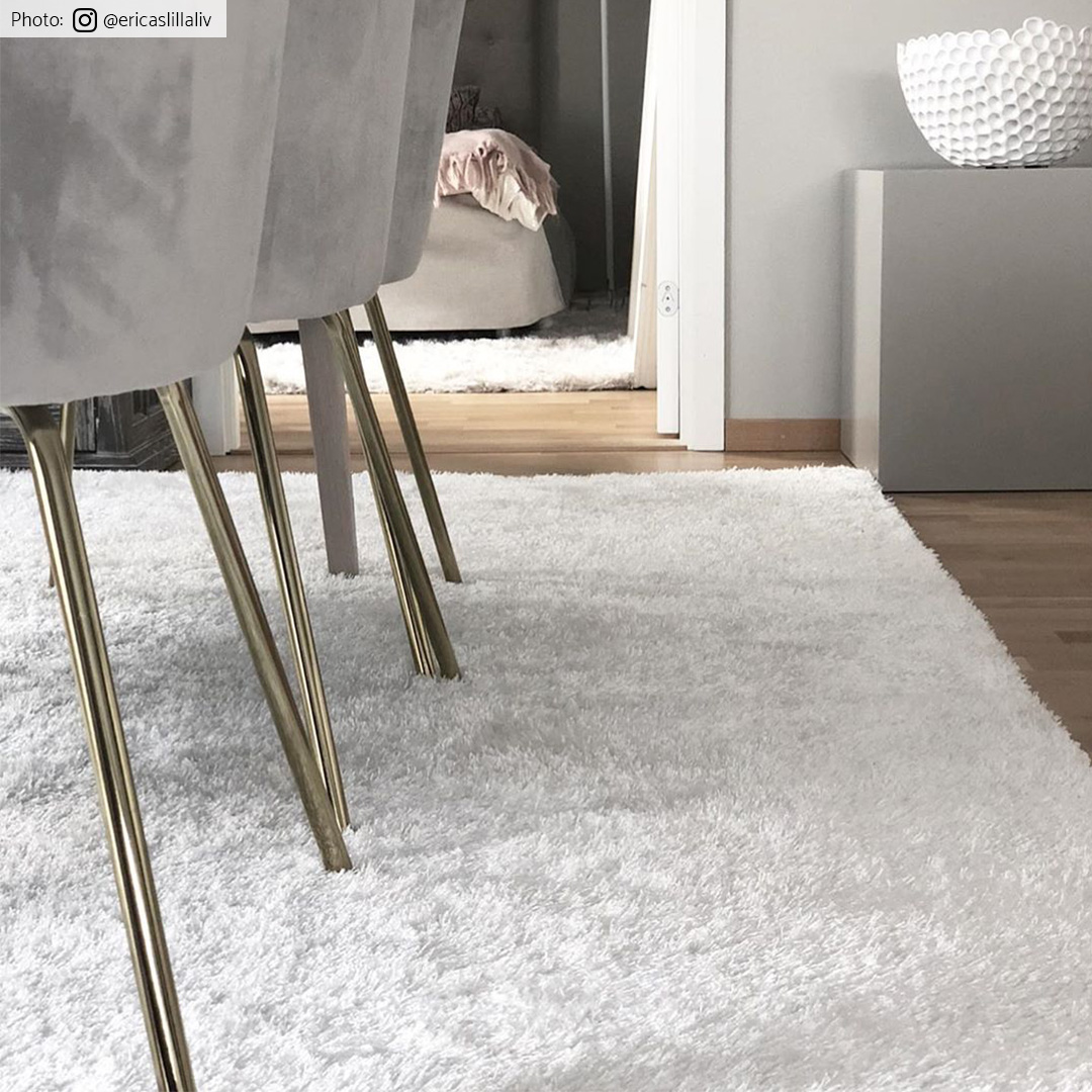 tapis shaggy cosy blanc