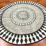 Round Rugs Marrakech Round Black Grey White