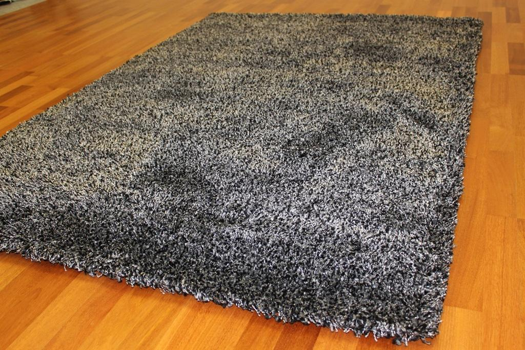 silver grey living room carpet images of designs shaggy rugs - deluxe (black-silver)