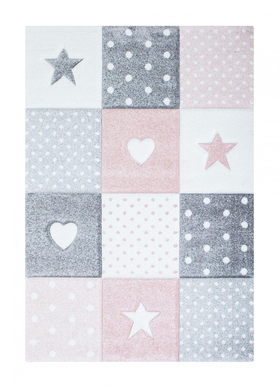 tapis enfants atlas star rose