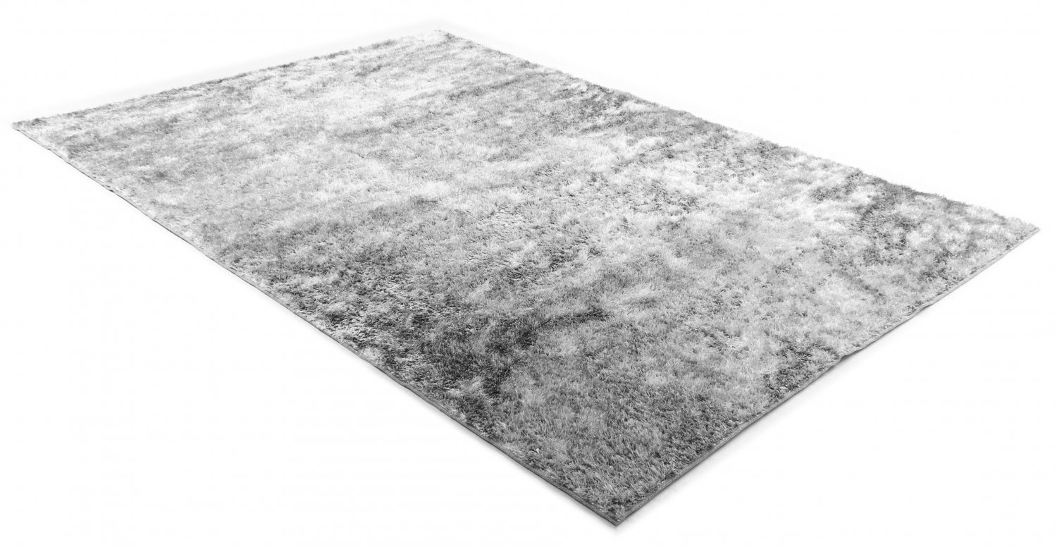 tapis shaggy cosy argent