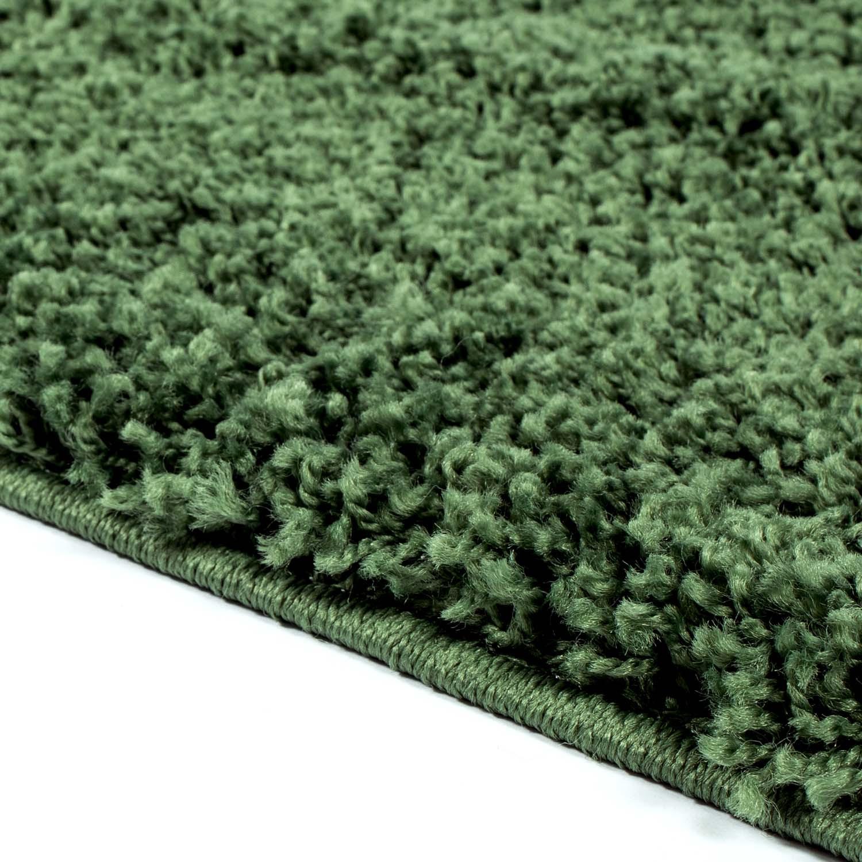 tapis shaggy trim vert