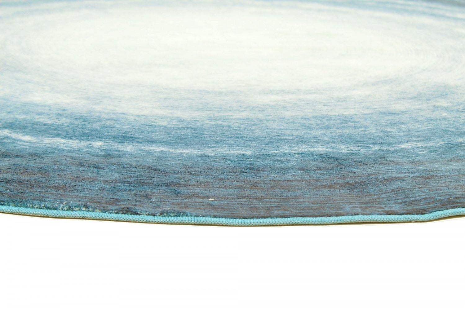 tapis rond shade turquoise