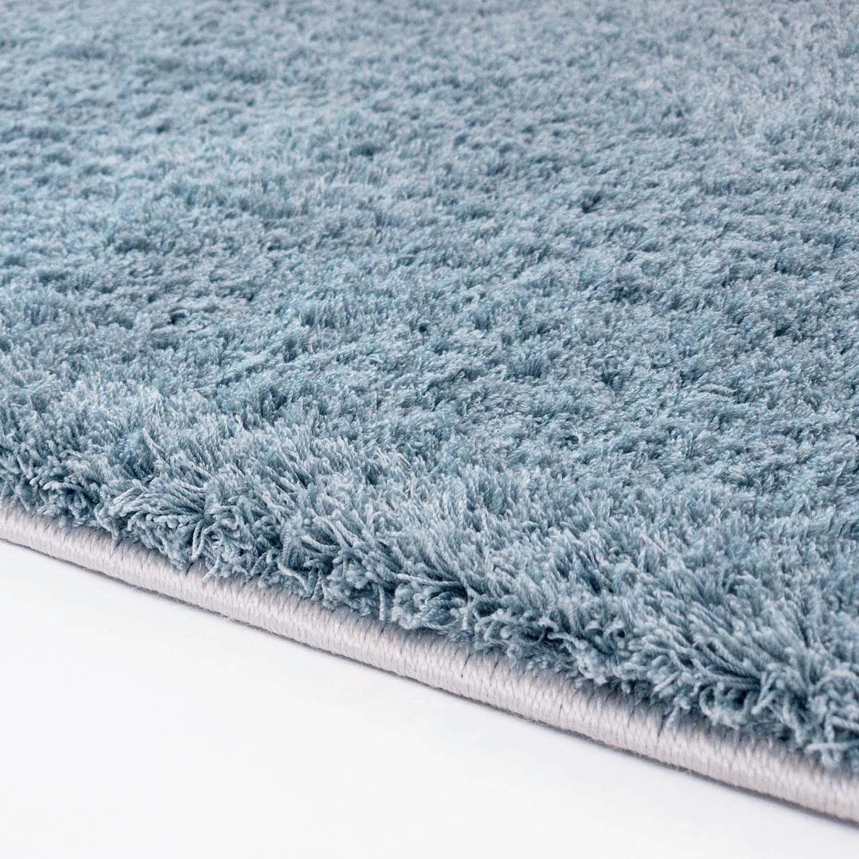 tapis rond soft shine turquoise