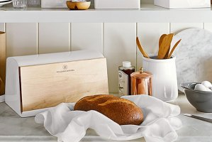 Biały chlebak na pieczywo