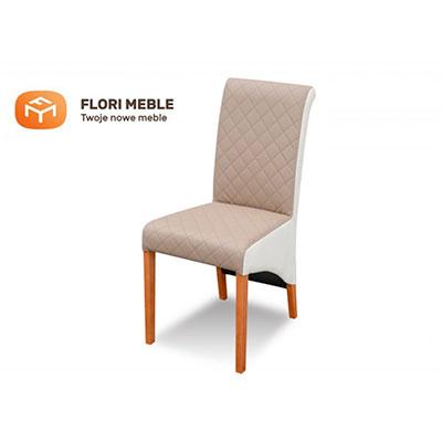 Pikowane krzesło tapicerowane RMK77 z wałkiem