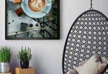 Idealny plakat do kuchni – kawa, owoce i warzywa?