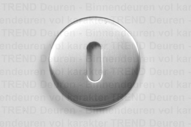 <h5>TREND 211</h5><p>RVS sleutelrozet (klavier) gemonteerd d.m.v. stalen rozet. Afgewerkt met fraaie RVS klik rozet voor strakke look.</p>