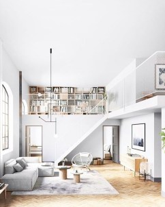 A Beautiful All White Apartment In Modern Style 30