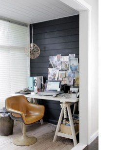 Best Home Office Ideas With Black Walls 05