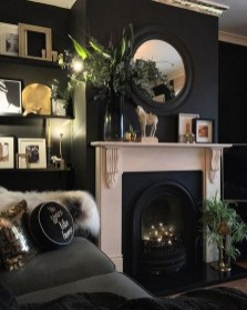 Best Living Room Ideas With Black Walls 01