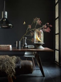 Best Living Room Ideas With Black Walls 04